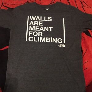 The North Face walls are meant for climbing shirt